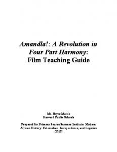 Amandla!: A Revolution in Four Part Harmony: Film Teaching Guide