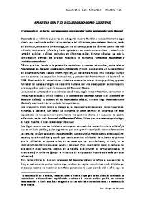 AMARTYA SEN Y El DESARROLLO COMO LIBERTAD