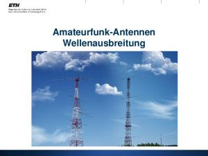 Amateurfunk-Antennen Wellenausbreitung