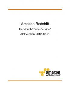 Amazon Redshift. Handbuch