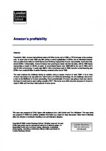 Amazon s profitability