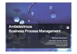 Ambidextrous Business Process Management