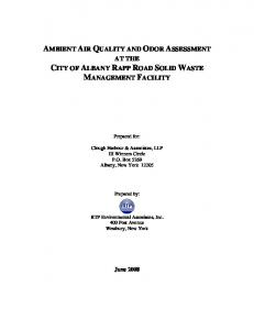 AMBIENT AIR QUALITY AND ODOR ASSESSMENT