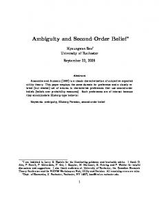 Ambiguity and Second-Order Belief