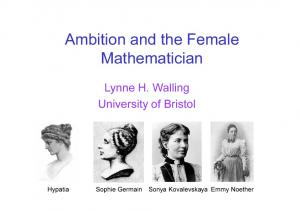 Ambition and the Female Mathematician