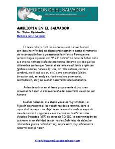 AMBLIOPIA EN EL SALVADOR
