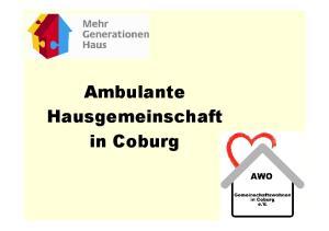 Ambulante Hausgemeinschaft in Coburg