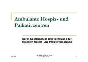 Ambulante Hospiz- und Palliativzentren