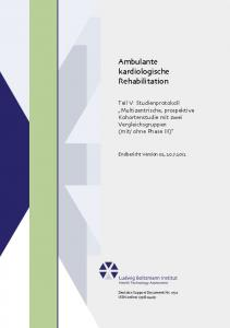 Ambulante kardiologische Rehabilitation