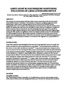 AMBULATORY BLOOD PRESSURE MONITORING EVALUATION OF A SEMI-AUTOMATED DEVICE