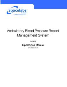 Ambulatory Blood Pressure Report Management System