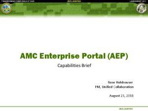 AMC Enterprise Portal (AEP)