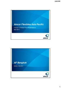 Amcor Flexibles Asia Pacific