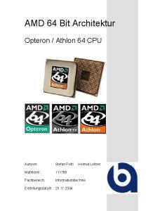 AMD 64 Bit Architektur