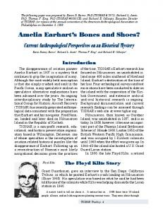 Amelia Earhart s Bones and Shoes? Current Anthropological Perspectives on an Historical Mystery