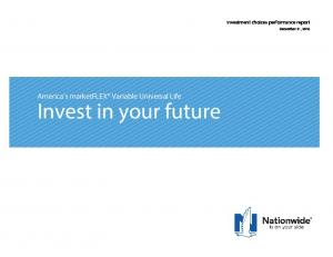 America s marketflex Variable Universal Life Invest in your future