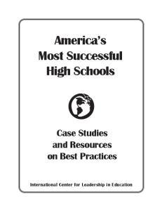 America s Most Successful High Schools