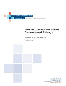 America s Racially Diverse Suburbs: Opportunities and Challenges