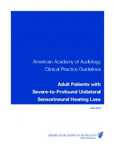 American Academy of Audiology Clinical Practice Guidelines