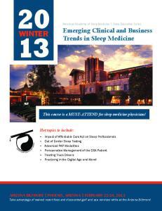 American Academy of Sleep Medicine Sleep Education Series