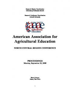 American Association for Agricultural Education