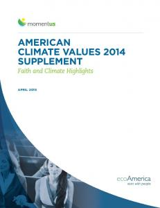 AMERICAN CLIMATE VALUES 2014 SUPPLEMENT