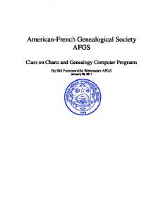 American-French Genealogical Society AFGS