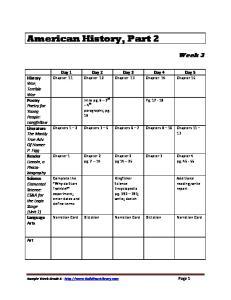 American History, Part 2