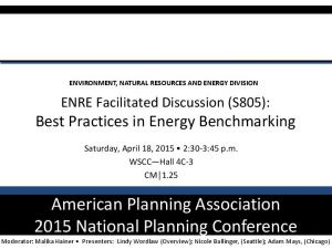American Planning Association 2015 National Planning Conference
