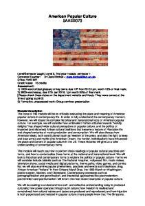 American Popular Culture 5AAEB073