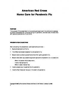 American Red Cross Home Care for Pandemic Flu