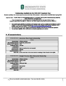 American River Bank Scholarship