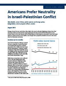 Americans Prefer Neutrality in Israeli Palestinian Conflict