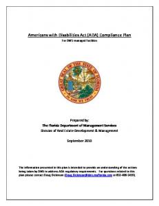 Americans with Disabilities Act (ADA) Compliance Plan