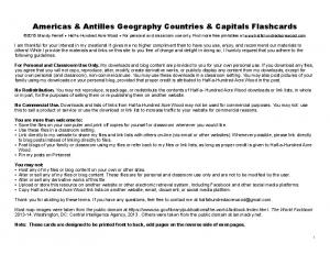 Americas & Antilles Geography Countries & Capitals Flashcards