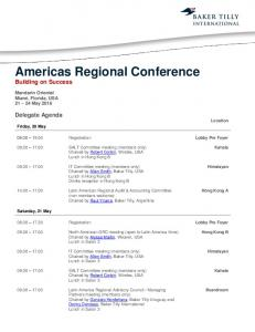Americas Regional Conference Building on Success