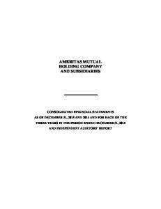 AMERITAS MUTUAL HOLDING COMPANY AND SUBSIDIARIES