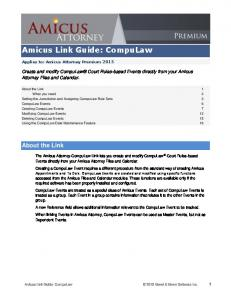 Amicus Link Guide: CompuLaw