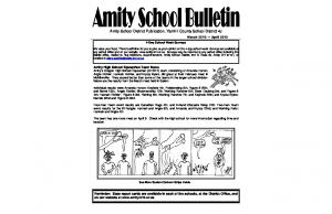 Amity School District Publication, Yamhill County School District 4J