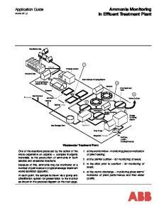 Ammonia Monitoring in Effluent Treatment Plant
