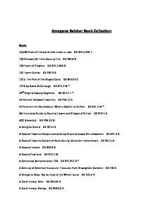 Amogene Belcher Book Collection