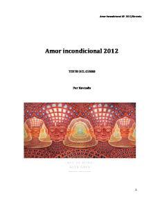 Amor incondicional 2012