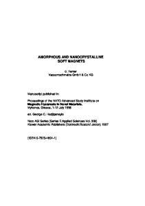AMORPHOUS AND NANOCRYSTALLINE SOFT MAGNETS