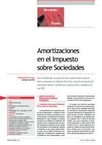 Amortizaciones en el Impuesto sobre Sociedades