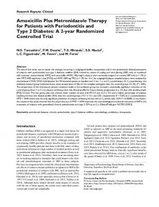 Amoxicillin Plus Metronidazole Therapy for Patients with Periodontitis and Type 2 Diabetes: A 2-year Randomized Controlled Trial