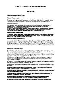 A.M.P.A COLEGIO CONCERTADO ARCANGEL