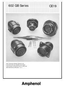 Amphenol. 602 GB Series CE19