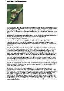 Amphibien Entwicklungsgeschichte