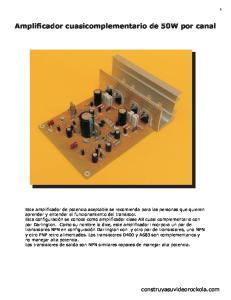 Amplificador cuasicomplementario de 50W por canal