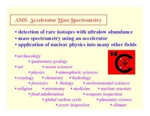 AMS: Accelerator Mass Spectrometry